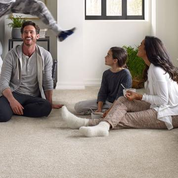 Family on Carpet floor | J/K Carpet Center, Inc