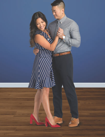 Couple dancing on vinyl floor | J/K Carpet Center, Inc