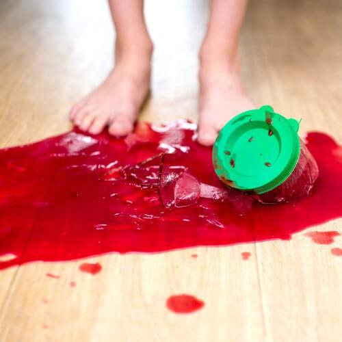 Spill on hardwood flooring   J/K Carpet Center, Inc