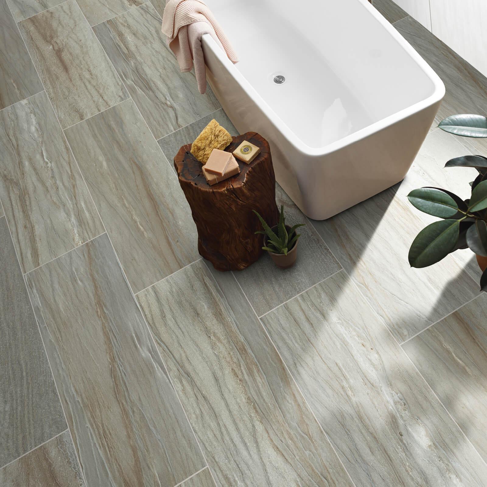 Sanctuary bathroom tile | J/K Carpet Center, Inc