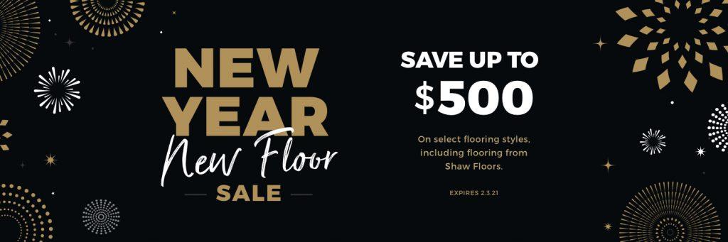 New Year New Floor Sale | J/K Carpet Center, Inc